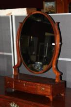 Victorian Oval Mirrored Toilet Mirror,