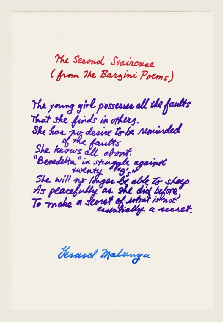 Gerard Malanga (b. 1943): The Second Staircase