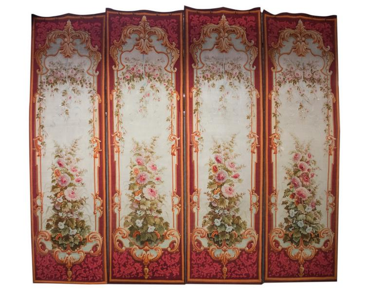 SET OF FOUR AUBUSSON TAPESTRY PANELS