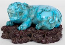 CHINESE CARVED FOO DOG