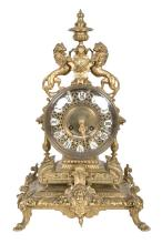 LOUIS XV STYLE GILT MANTLE CLOCK FOR TIFFANY & COMPANY