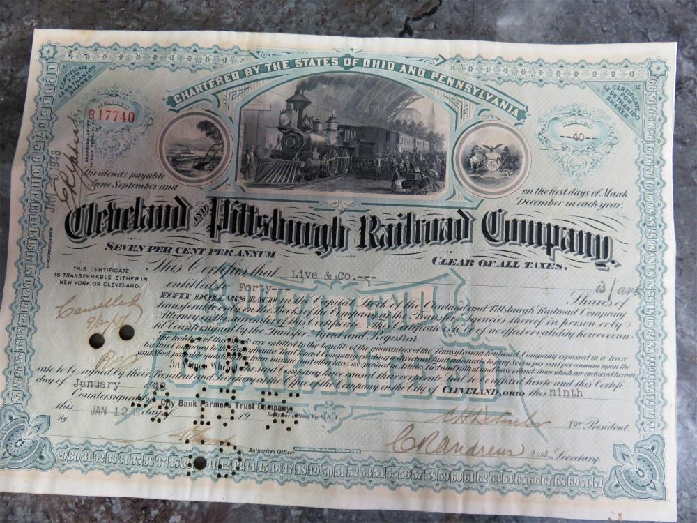 Scripophily Stock Bonds Certificates For Sale At Online Auction