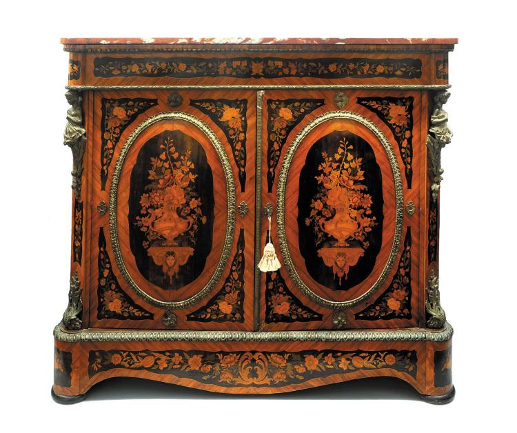 meuble d appui de style louis xvi. Black Bedroom Furniture Sets. Home Design Ideas