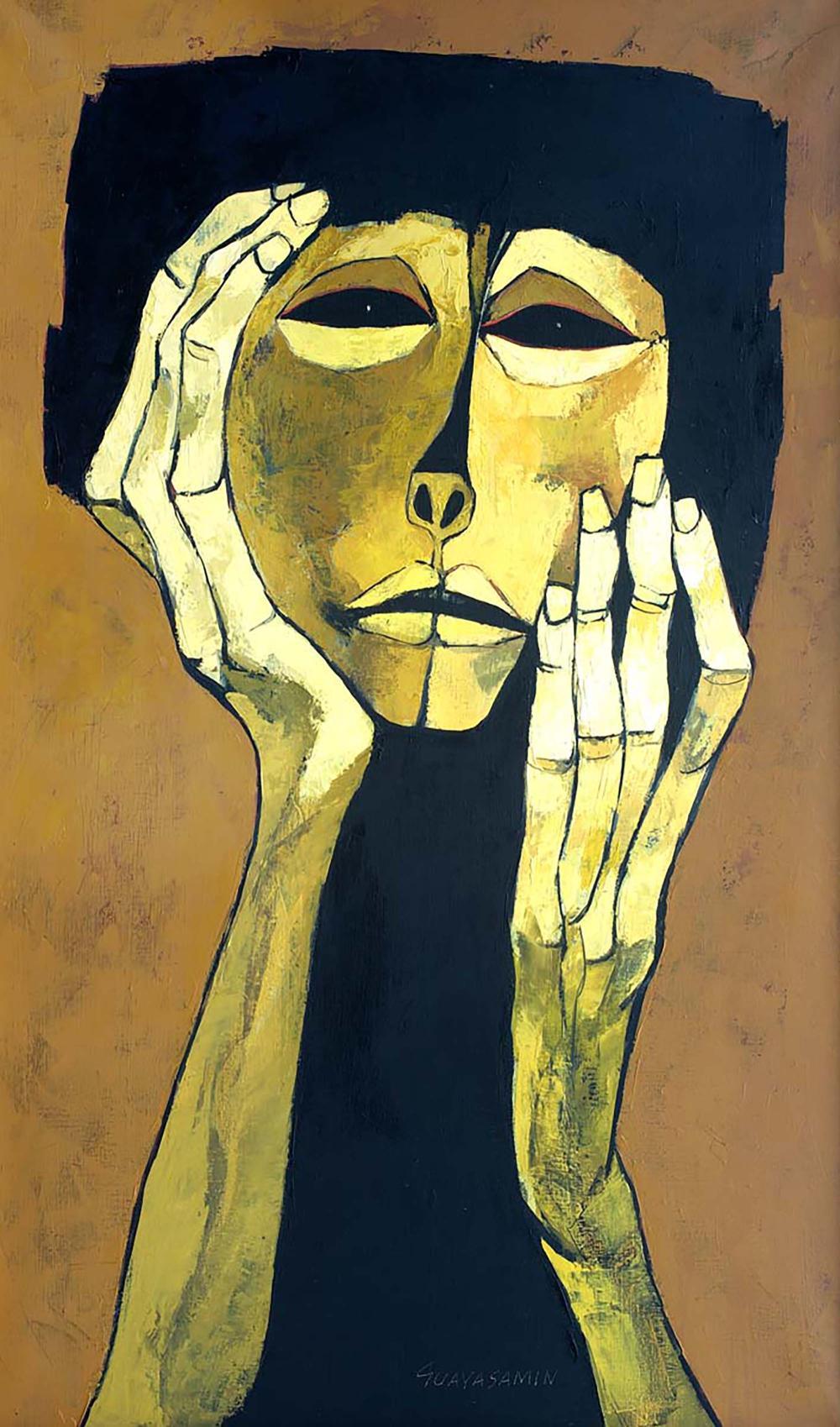 Tenue D Artiste Peintre oswaldo guayasamin, ecole equatorienne (1919-1999) « ternura