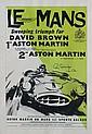 LE MANS, 1959 Affiche Aston Martin célébrant, les deux premières places finales des 24 heures remportées par Salvadori et Shelby, devant le duo Maurice Trintignant et Paul Frère.