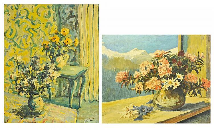 ETIENNE CLERISSI (1888-1971) & HUBERT CLERISSI (1923) Bouquets de fleurs