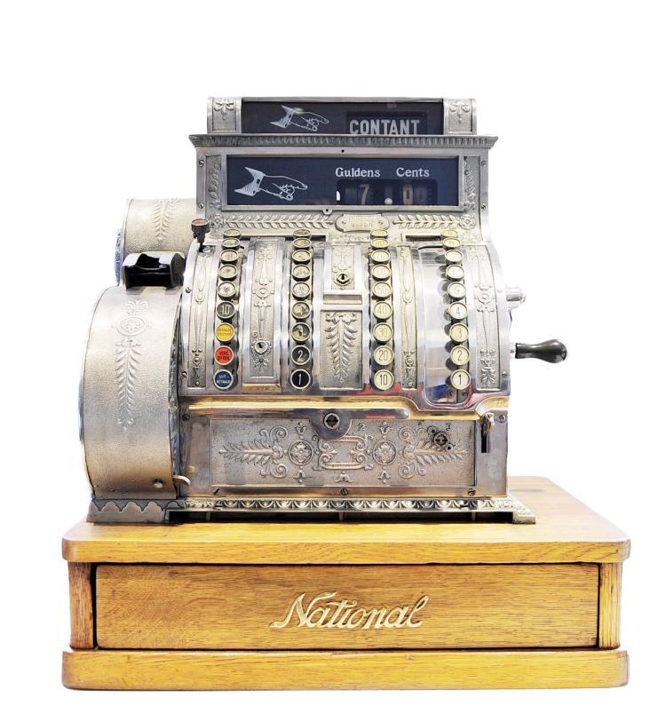 Caisse enregistreuse cash register national vers 1900 for Gulden interieur