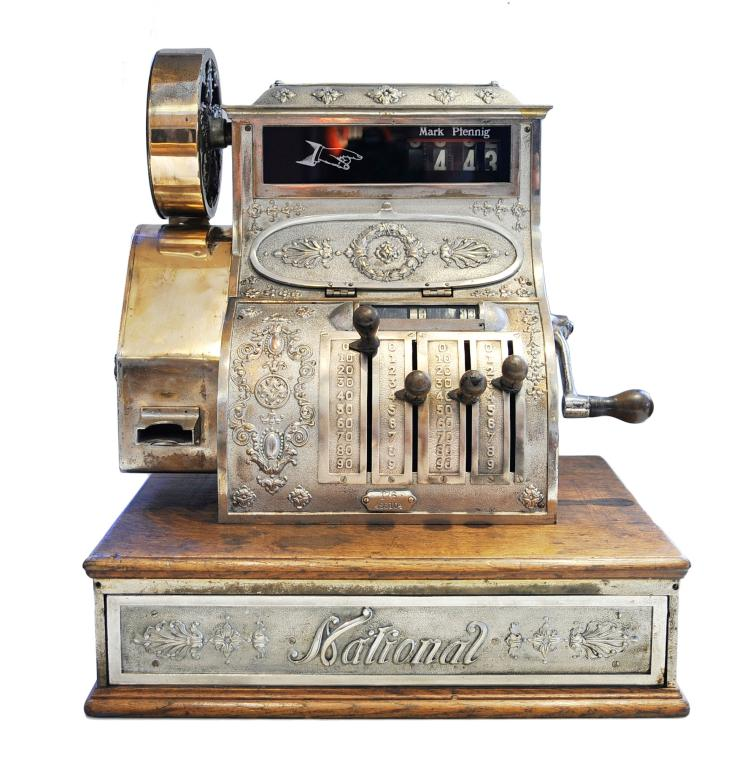 caisse enregistreuse cash register national vers 1890. Black Bedroom Furniture Sets. Home Design Ideas