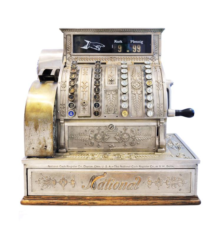 caisse enregistreuse cash register national vers 1920. Black Bedroom Furniture Sets. Home Design Ideas