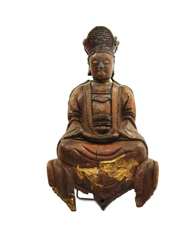 BOUDDHA ANCIEN, CHINE vers 1700