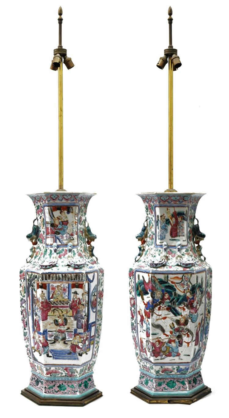 Paire de vases chinois 19 me si cle for Chaise 19eme siecle