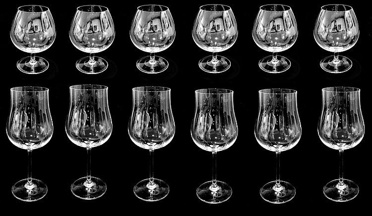 cristal de sevres lot de 12 verres comprenant. Black Bedroom Furniture Sets. Home Design Ideas