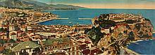 VUE ANCIENNE DE MONACO    Photographie couleur de la Principauté Dimensions : 19,5 x 53 cm
