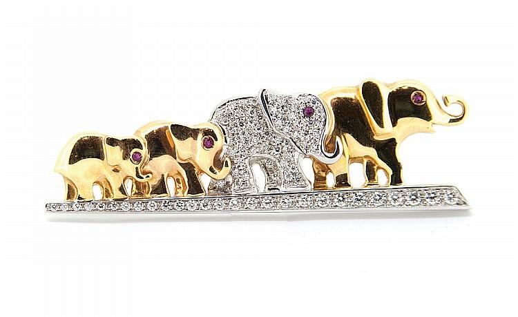 BROCHE ELEPHANT