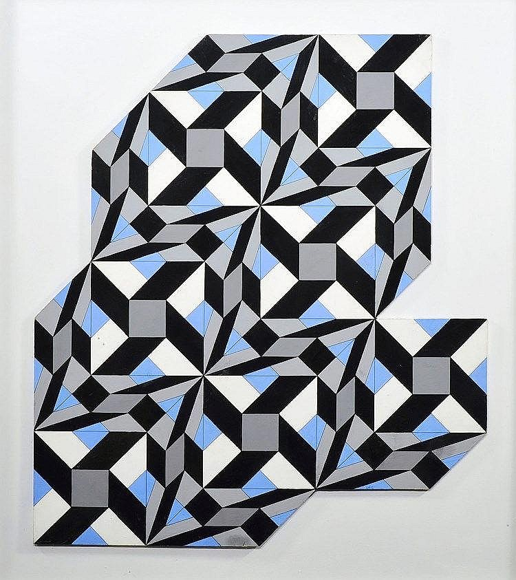 GUY POUPPEZ de KETTENIS (1915-1993 Monaco) Composition abstraite au découpage