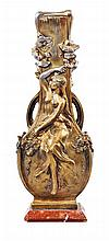 AUGUSTE MOREAU (1834-1917) Rare vase Art-Nouveau, ca.1900