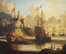 ORAZIO GREVENBROECK (c.1670-1743) ATTRIBUE Scène portuaire