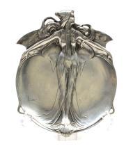 ACHILLE GAMBA (Italie 19-20ème) Rare coupe « vide-poches » Art-Nouveau