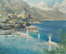 MARIE THERESE MARTIN (1923-1979)  Vue de Monte-Carlo au debut du 20eme siecle
