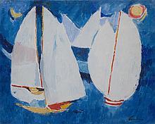 ENRICO PAULUCCI (1901-1999)  Marine aux voiliers