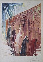 SALVADOR DALI (1904-1989)  Le Mur des Lamentations de Jerusalem, 1975