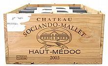 Chateau SOCIANDO-MALLET 2001