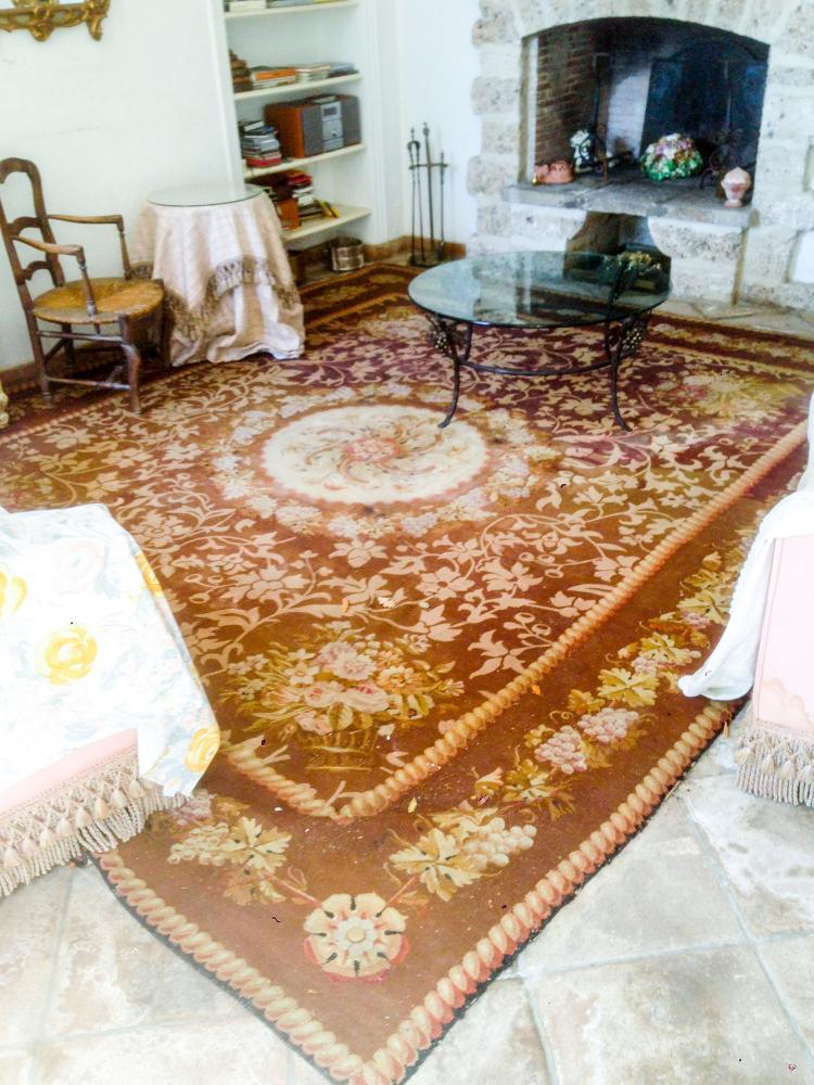 tapis savonnerie d aubusson 19 me. Black Bedroom Furniture Sets. Home Design Ideas