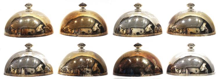 Maison christofle suite de 8 cloches couvre assiettes ma tre for Decoration maison de maitre