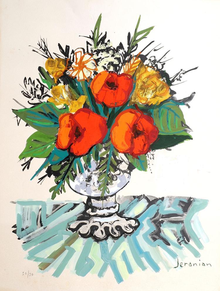 richard jeranian 1921 le bouquet de fleurs. Black Bedroom Furniture Sets. Home Design Ideas