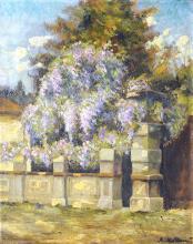 GIUSEPPE ALESSANDRO SACHERI (1863-1950) ATTRIBUE Le portail fleuri