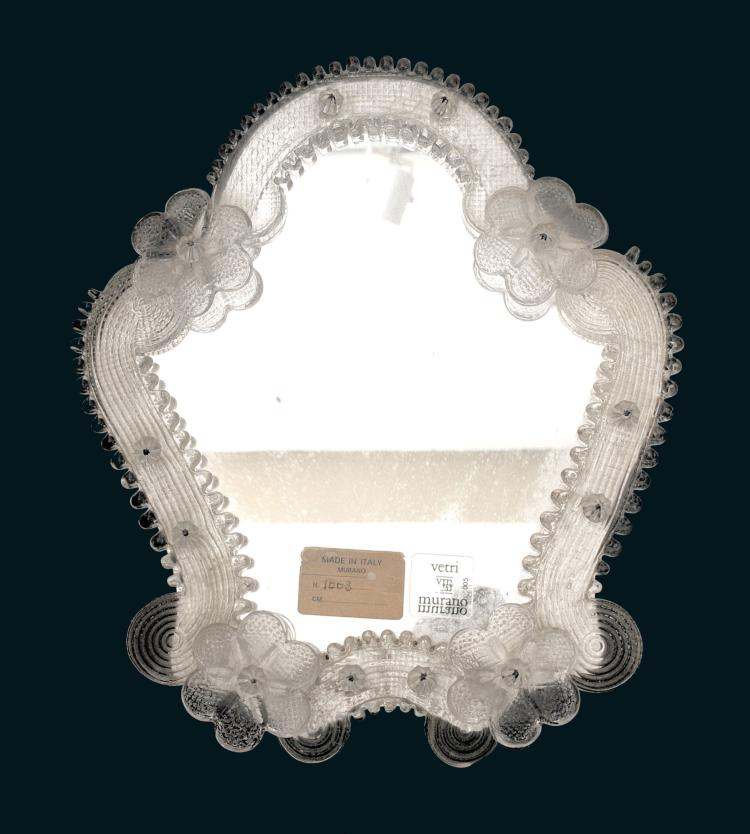Vetri murano petit miroir de venise sur pied - Petit miroir sur pied ...