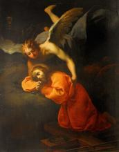 GIOVANNI CAMILLO SAGRESTANI (1660-1731), ENTOURAGE Le Christ dans le jardin des Oliviers