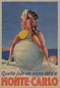 LOUIS ICART (1888-1950) Quelle joie de vivre l'été à Monte-Carlo