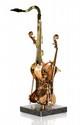 ARMAN, Ecole française (1928-2005) Composition Violin Saxo 1996