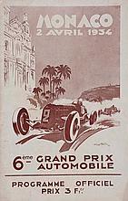SIXIEME GRAND PRIX AUTOMOBILE DE MONACO, 1934