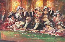 POMPEO MARIANI (1857-1927) Au Casino de Monte-Carlo