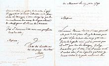VILLE DE MONACO Lettre de Millo en 1790