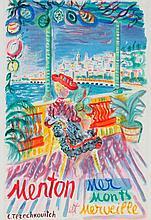 CONSTANTIN TERECHKOVICH (1902-1978) Menton, Mer, Monts et Merveille, 1964