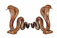 EDGAR BRANDT (1880-1960), attribué Les Cobras
