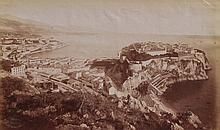 A.C. CHAMPAGNE (Act.1880-1890) Vue du Rocher de Monaco ca.1880