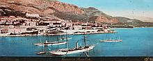 JEAN GILETTA (1856-1933) Vue de Monte-Carlo, vers 1880