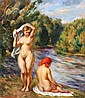 LEONID FRECHKOP (1897-1982) Les baigneuses