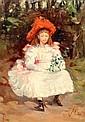 STIRLING MALLOCH (1865-1901) « Alice », la jeune fille au chapeau rouge