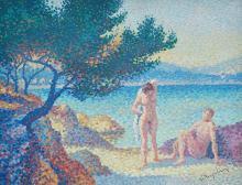 LUCIEN NEUQUELMAN (Paris 1909-1988) Les baigneuses en bord de Riviera