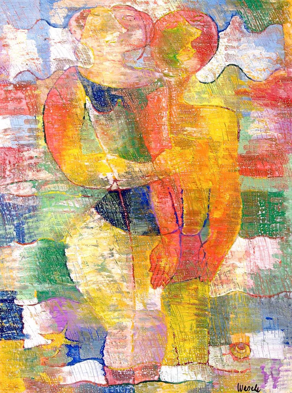 Chassis Atelier D Artiste georges wesche (1908-1995) bain de mer, 1974