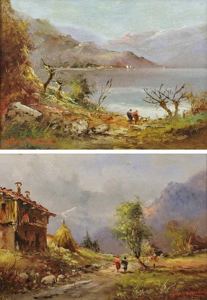 ATHOS BRIOSCHI  (1910-2000) Paysages italiens