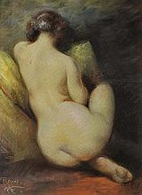 DELPHIN ENJOLRAS (1857-1945) « Repos », Elégante nue de dos