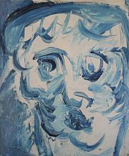 KAREL APPEL  (Amsterdam 1921-2006 Zurich)  Visage Bleu, 1961