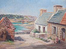 RENE MARGUERITAT (1872- ?)  Le Petit port de Ploumanac'h
