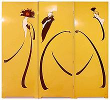 RENE GRUAU (1909-2004)  Les élégantes aux plumes
